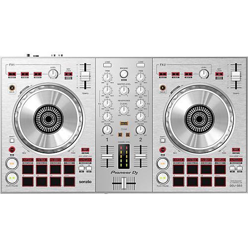 Pioneer DJ DDJ-SB3-S Limited Edition Silver Serato DJ Controller with Pad Scratch