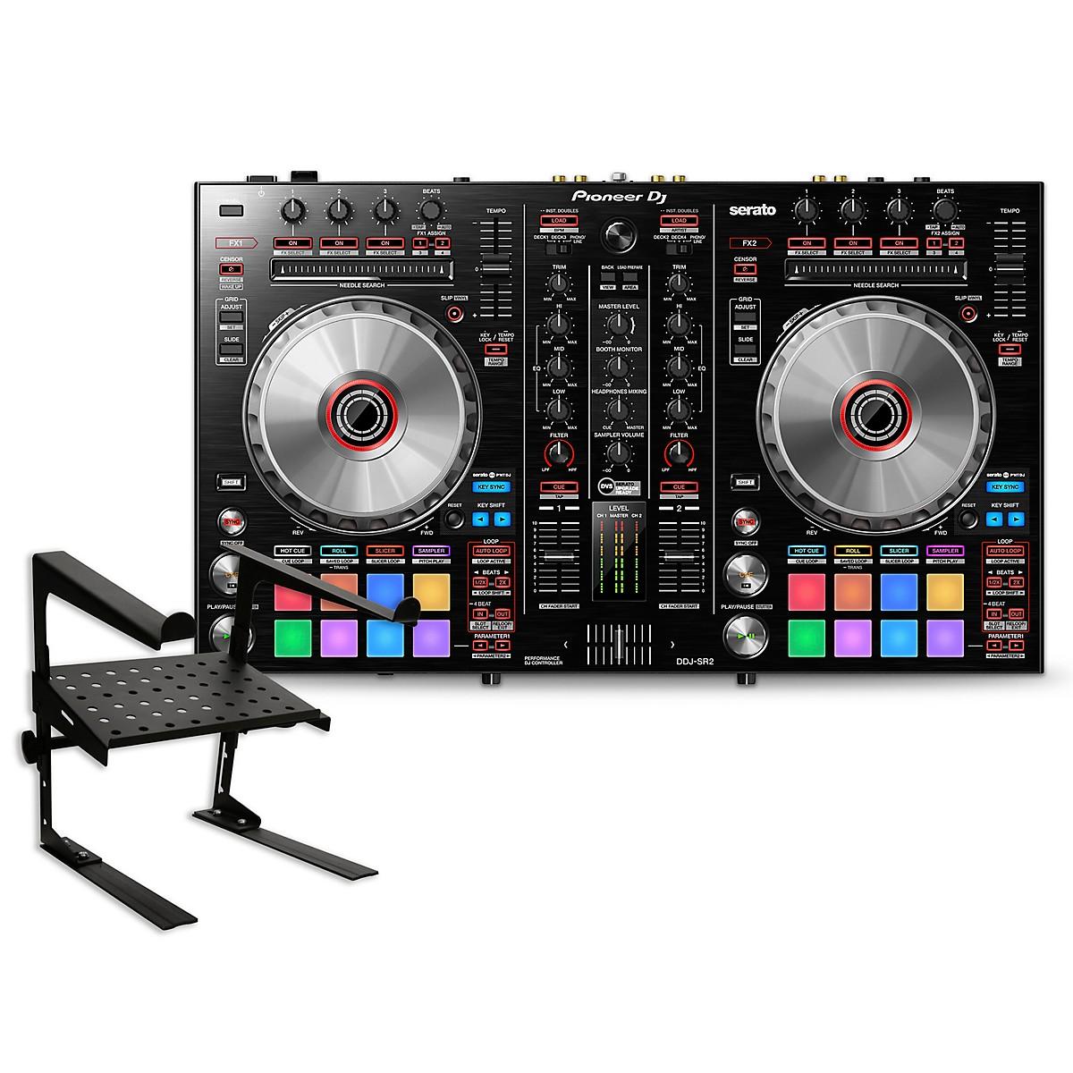 Pioneer DDJ-SR2 Serato DJ Controller with Laptop Stand
