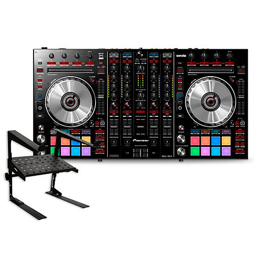 pioneer ddj sx2 performance dj controller with laptop stand guitar center. Black Bedroom Furniture Sets. Home Design Ideas
