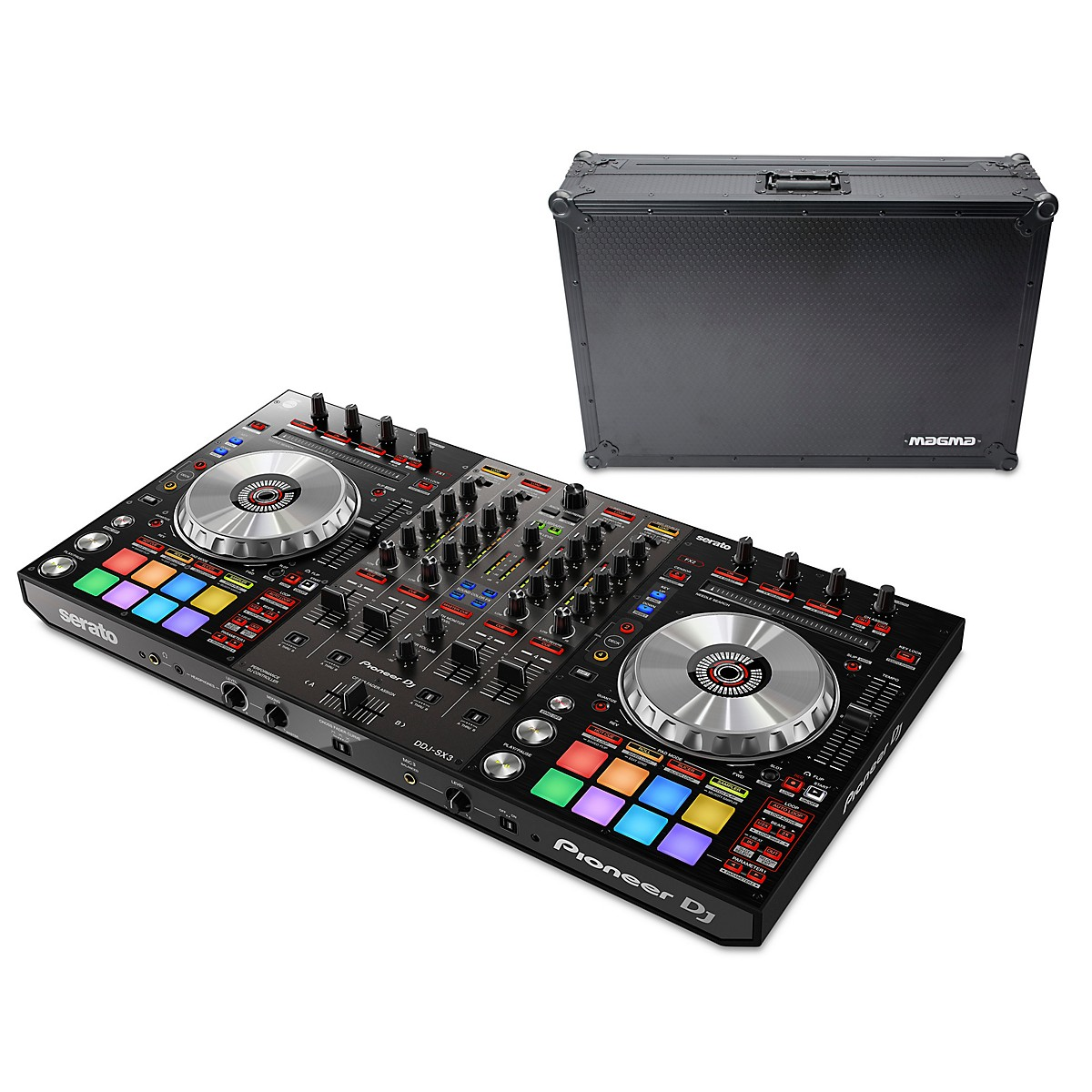 Pioneer DDJ-SX3 Performance DJ Controller With Magma Case