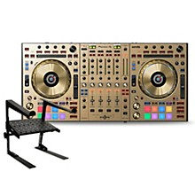 Pioneer DDJ-SZ2-N Limited Edition Gold DJ Controller with Laptop Stand