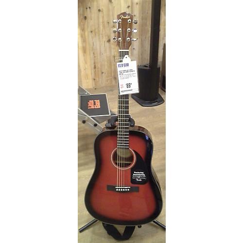 Fender DG60 Candy Red Burst Acoustic Guitar