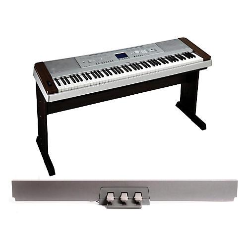 Yamaha DGX-640 88-Key Digital Piano Walnutwith LP-7 Pedal Unit