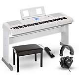 Yamaha DGX-660 88-Key Portable Grand Piano Package White Home Package