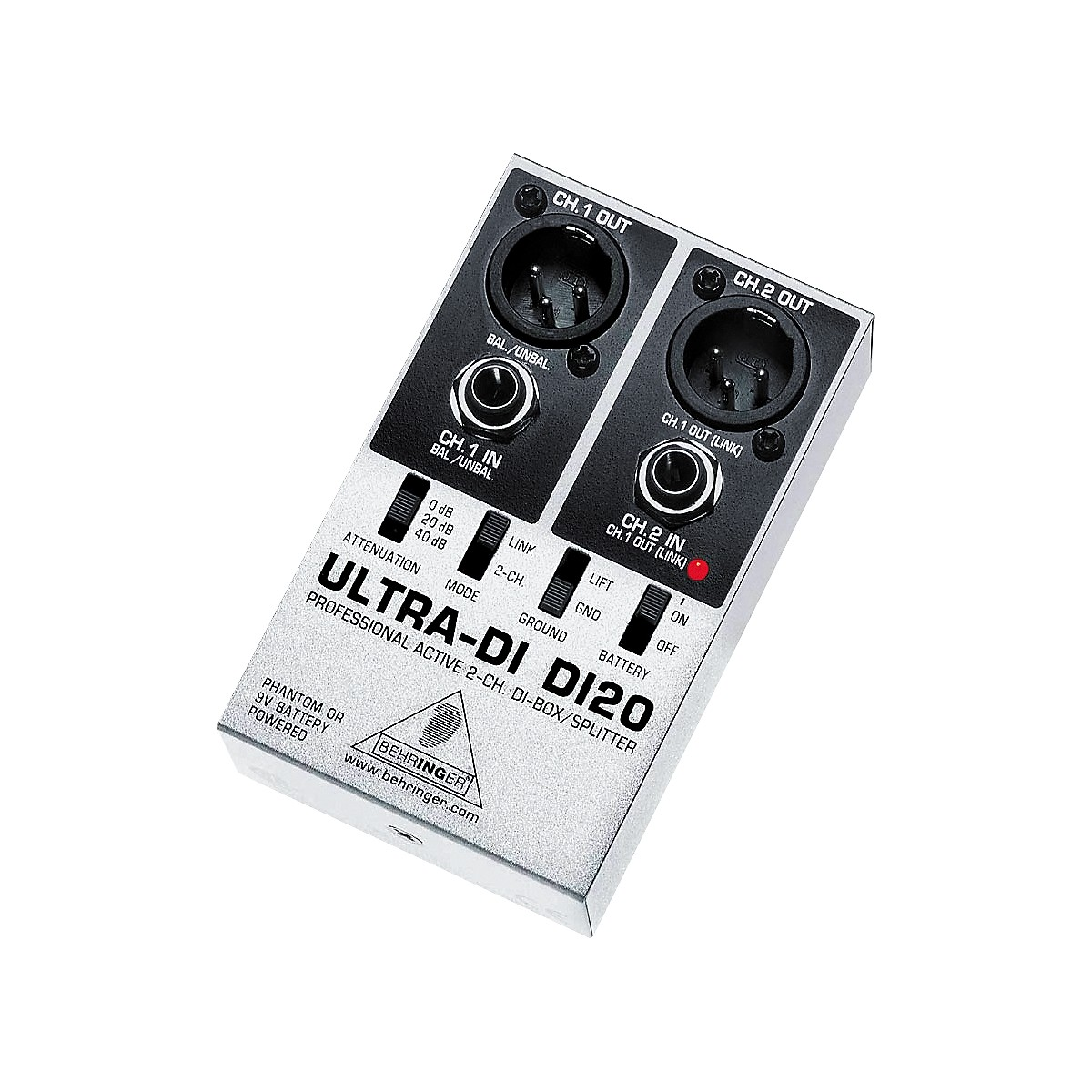 Behringer DI20 Ultra DI 2-Channel Active DI Box/Splitter