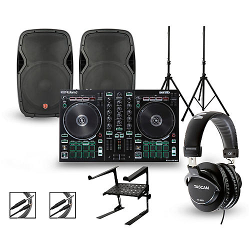 Roland DJ-202 with Harbinger V1015 DJ Package