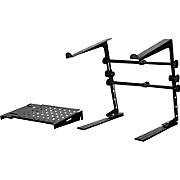 DJ Laptop Stand and Shelf Bundle Black