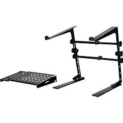 DJ Laptop Stand and Shelf Bundle Black