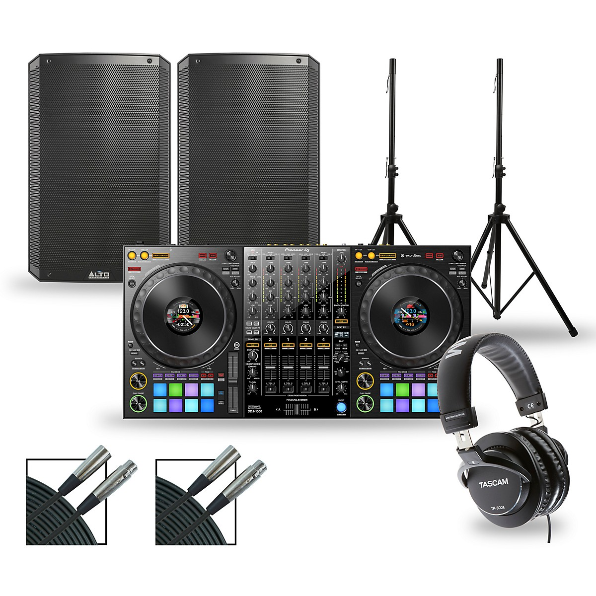 Pioneer DJ Package with DDJ-1000 Controller and Alto TS3 Series Speakers