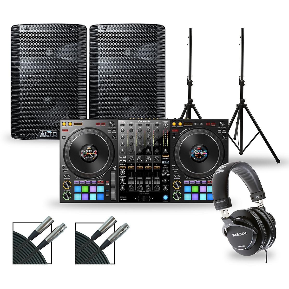 Pioneer DJ Package with DDJ-1000 Controller and Alto TX2 Series Speakers