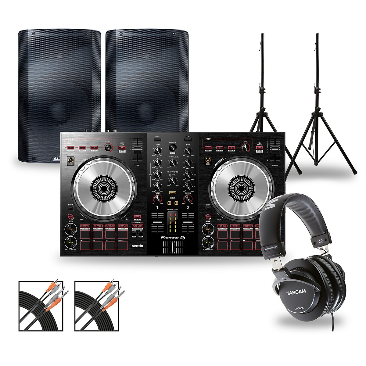 Pioneer DJ Package with DDJ-SB3 Controller and Alto TX2 Series Speakers