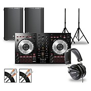 DJ Package with DDJ-SB3 Controller and Mackie Thump Boosted Speakers 12