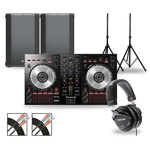Pioneer DJ Package with DDJ-SB3 Controller and Mackie Thump Series Speakers