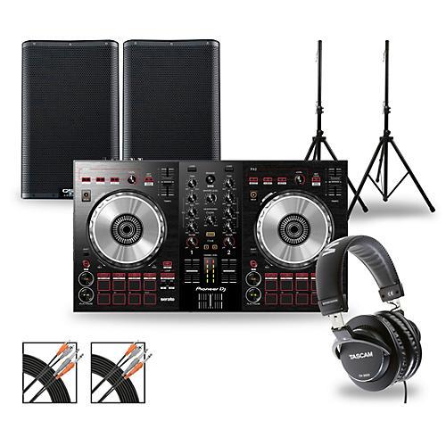 Pioneer DJ DJ Package with DDJ-SB3 Controller and QSC K.2 Series Speakers
