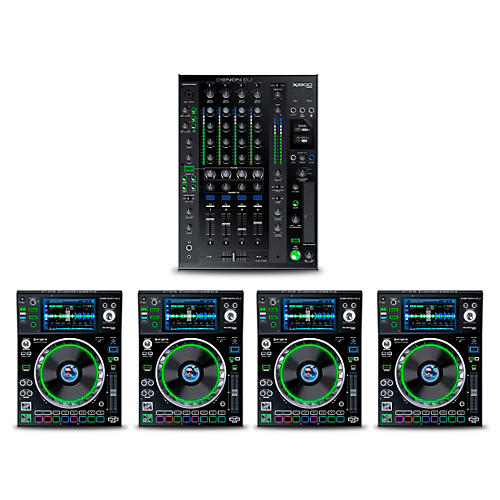 Denon DJ Package with X1800 PRIME Mixer and SC5000 PRIME Media Player