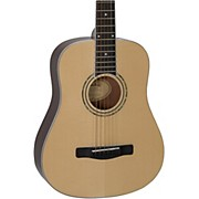 DJ120 Travel-Size Dreadnought Acoustic Guitar Natural