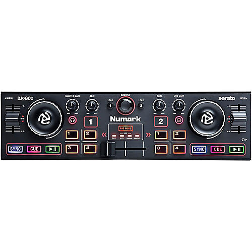 Numark DJ2GO2 Compact Portable Serato DJ Controller with Audio Interface