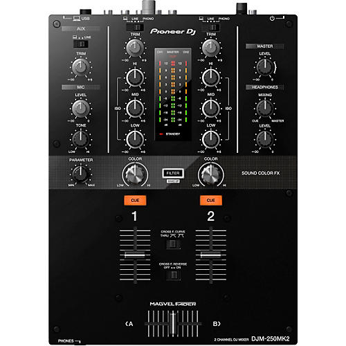 Pioneer DJM-250MK2 2-channel DJ Mixer with rekordbox
