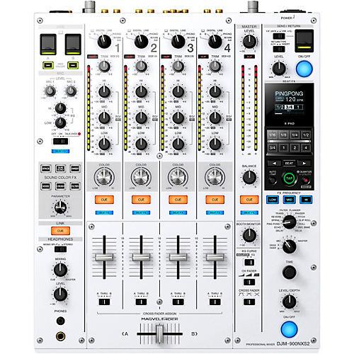 Pioneer DJ DJM-900NXS2-W Limited Edition White Professional 4-Channel Digital DJ Mixer With Dual USB for Serato, TRAKTOR and rekordbox