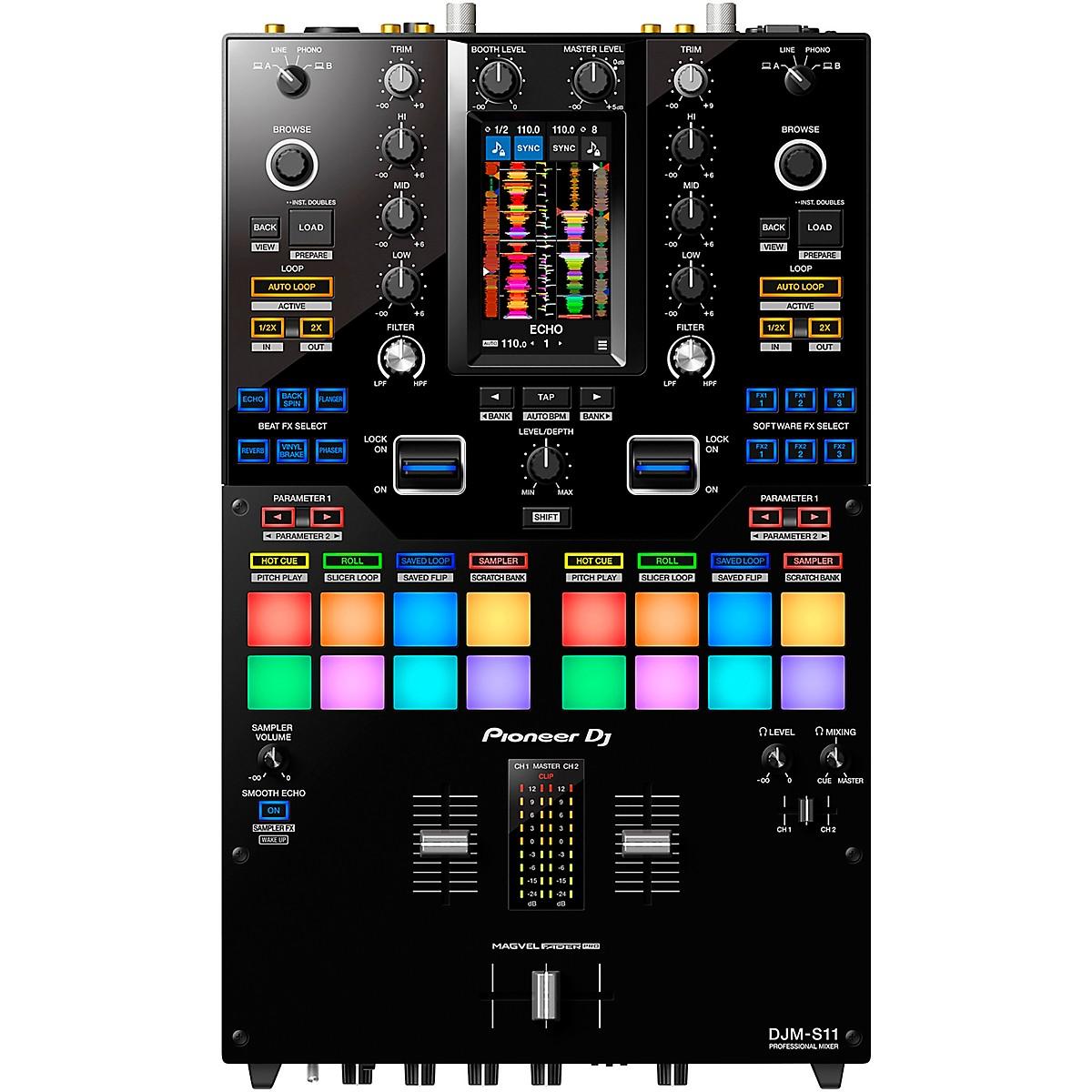 Pioneer DJM-S11 2-Channel Battle Mixer for Serato DJ & rekordbox With Performance Pads