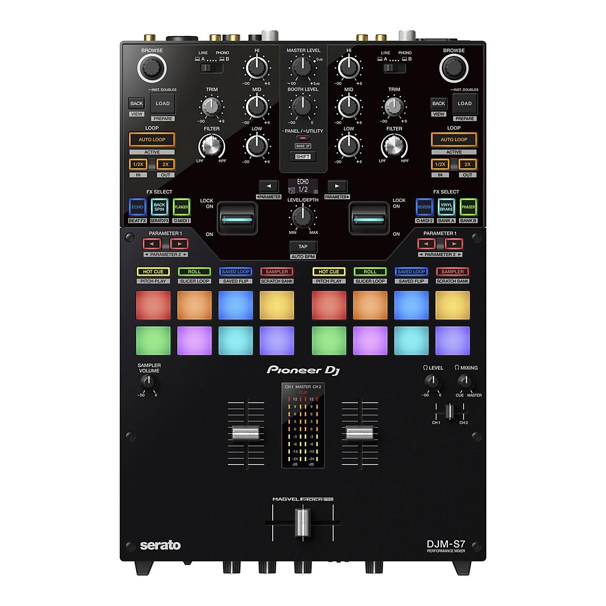 Pioneer DJM-S7 2-Channel Battle Mixer for Serato DJ & rekordbox With Performance Pads