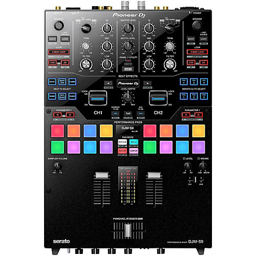 Pioneer DJ DJM-S9 2-Channel Battle Mixer for Serato DJ with Performance Pads and Dual USB