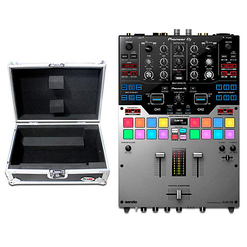 Pioneer DJM-S9 Silver 2-Channel Serato DJ Battle Mixer with Case