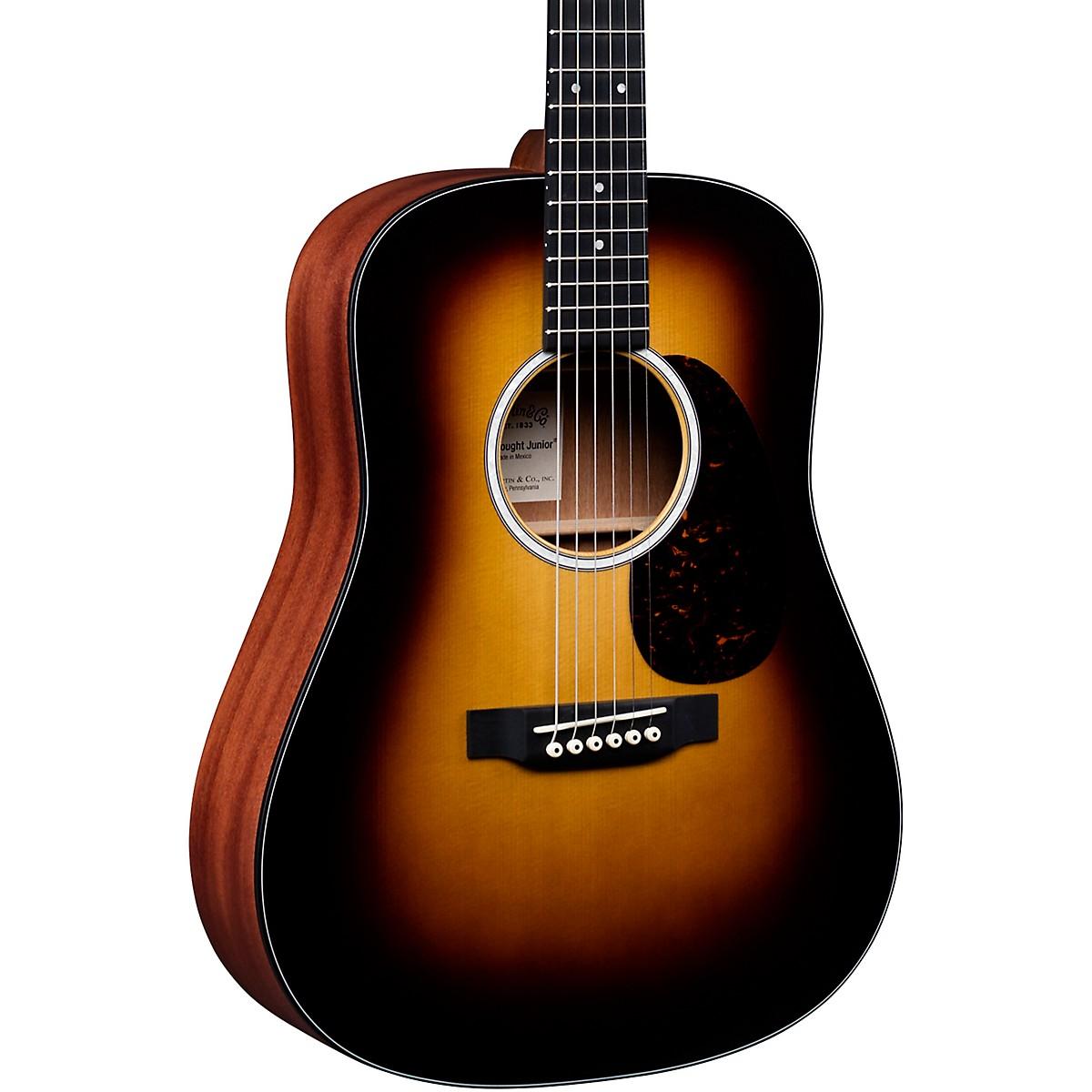 Martin DJr-10E Burst Dreadnought Junior Acoustic-Electric Guitar