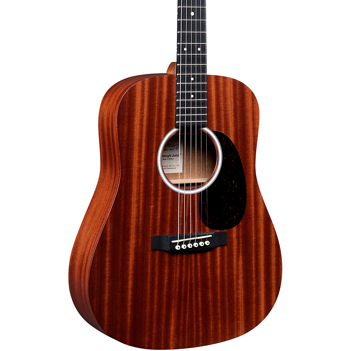 Martin DJr-10E Sapele Top Dreadnought Junior Acoustic-Electric Guitar