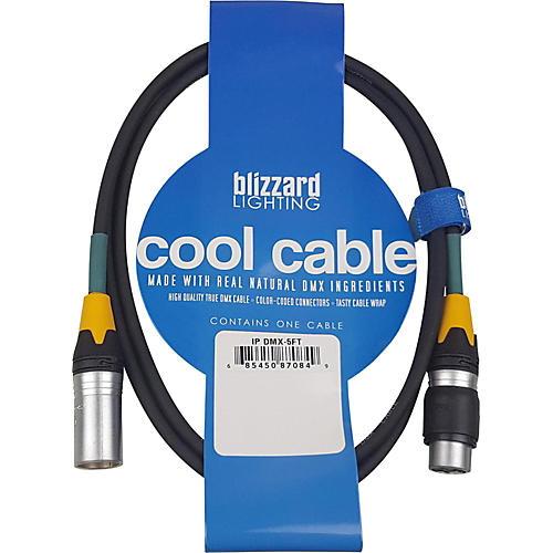 Blizzard DMX-IP-5Q 5 ft. 3-pin XLR(M) to XLR(F) 120 ohm IP-rated DMX Cable
