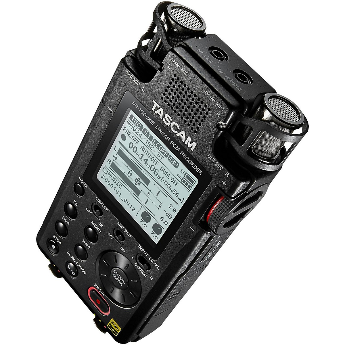 Tascam DR-100mkIII 2-ch Handheld Digital Stereo Recorder
