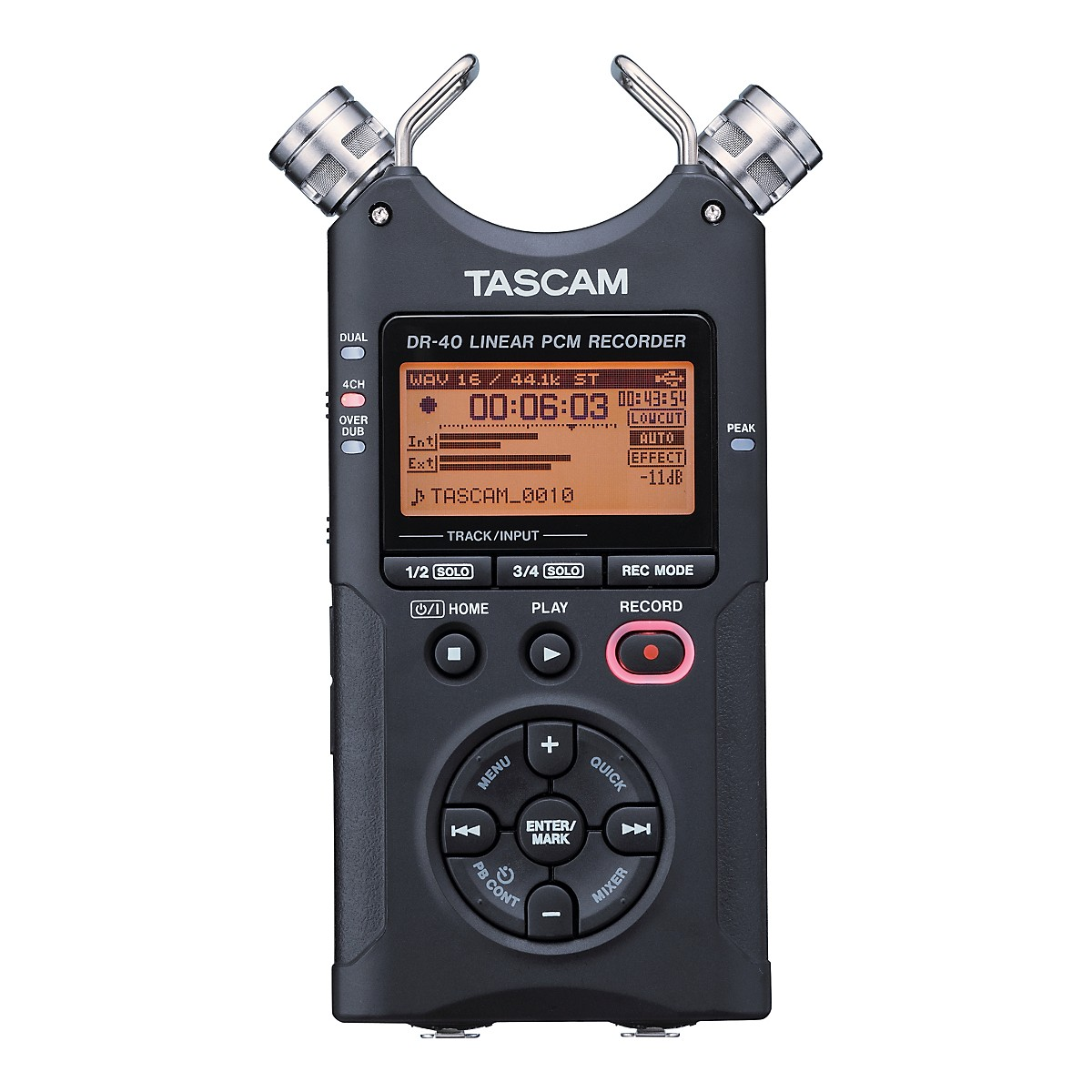 Tascam DR-40E Portable Digital Recorder with Extra 2GB Card