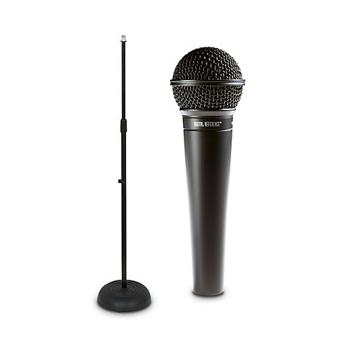 digital reference drv100 dynamic cardioid handheld microphone and mic stand package guitar center. Black Bedroom Furniture Sets. Home Design Ideas