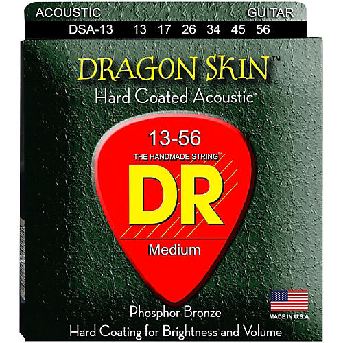DR Strings DSA-13 Dragonskin K3 Coated Acoustic Strings Heavy