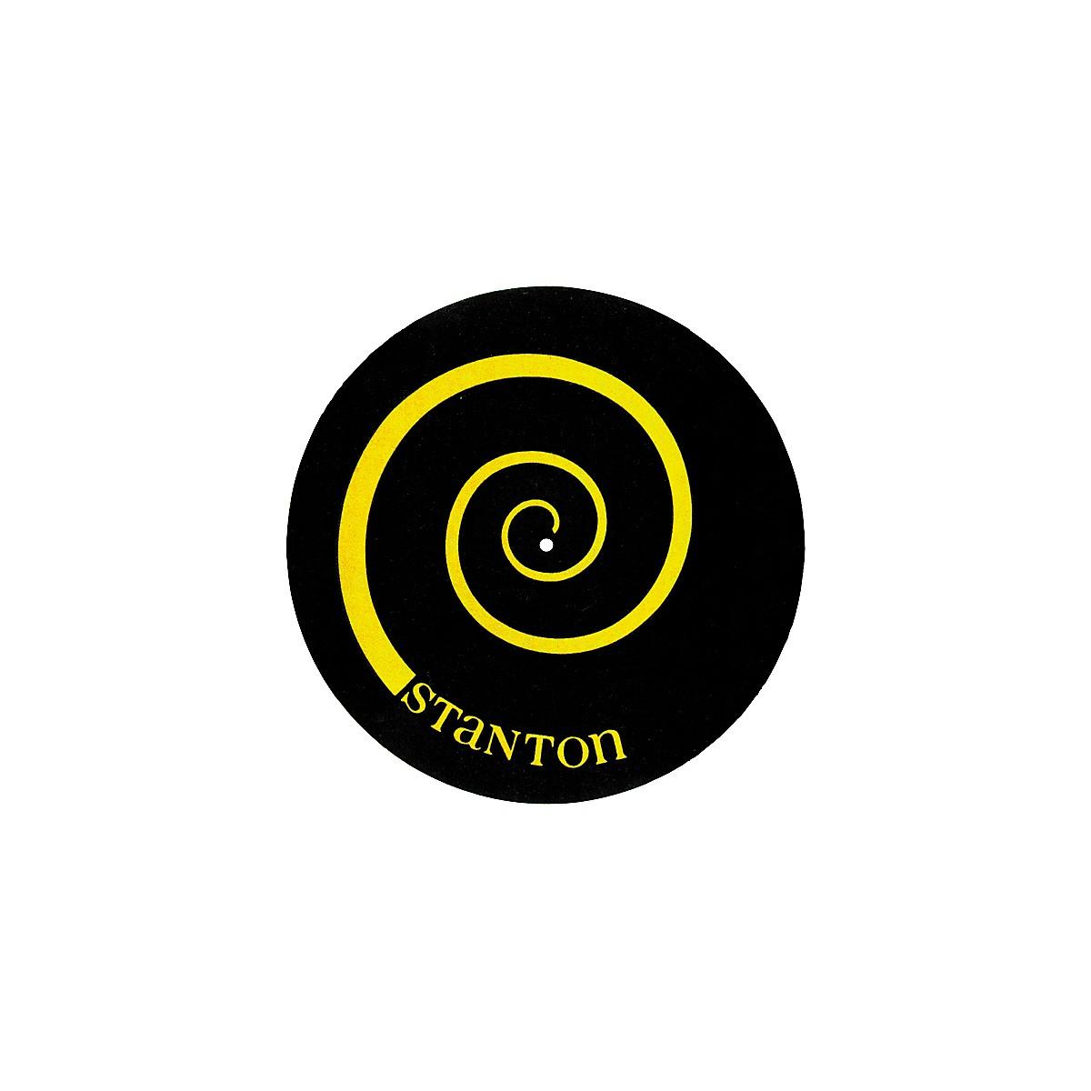 Stanton DSM-6 Yellow on Black Slipmats with Scratch Discs