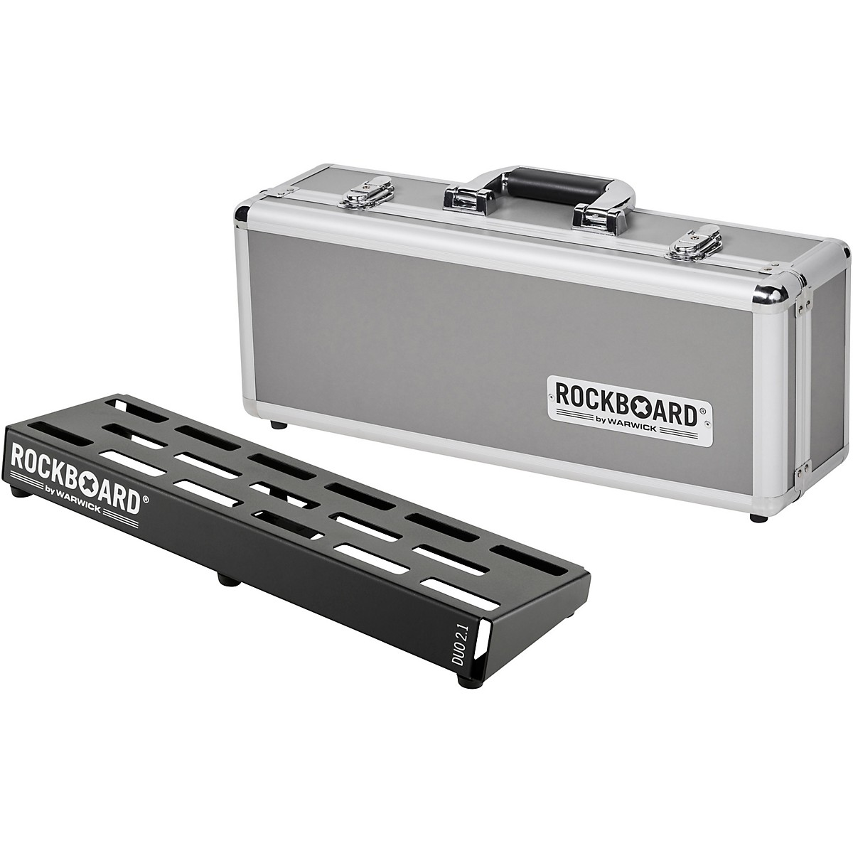 RockBoard DUO 2.1 Pedalboard with Flight Case