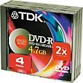 TDK DVD-R 47 S4 4 Pack thumbnail