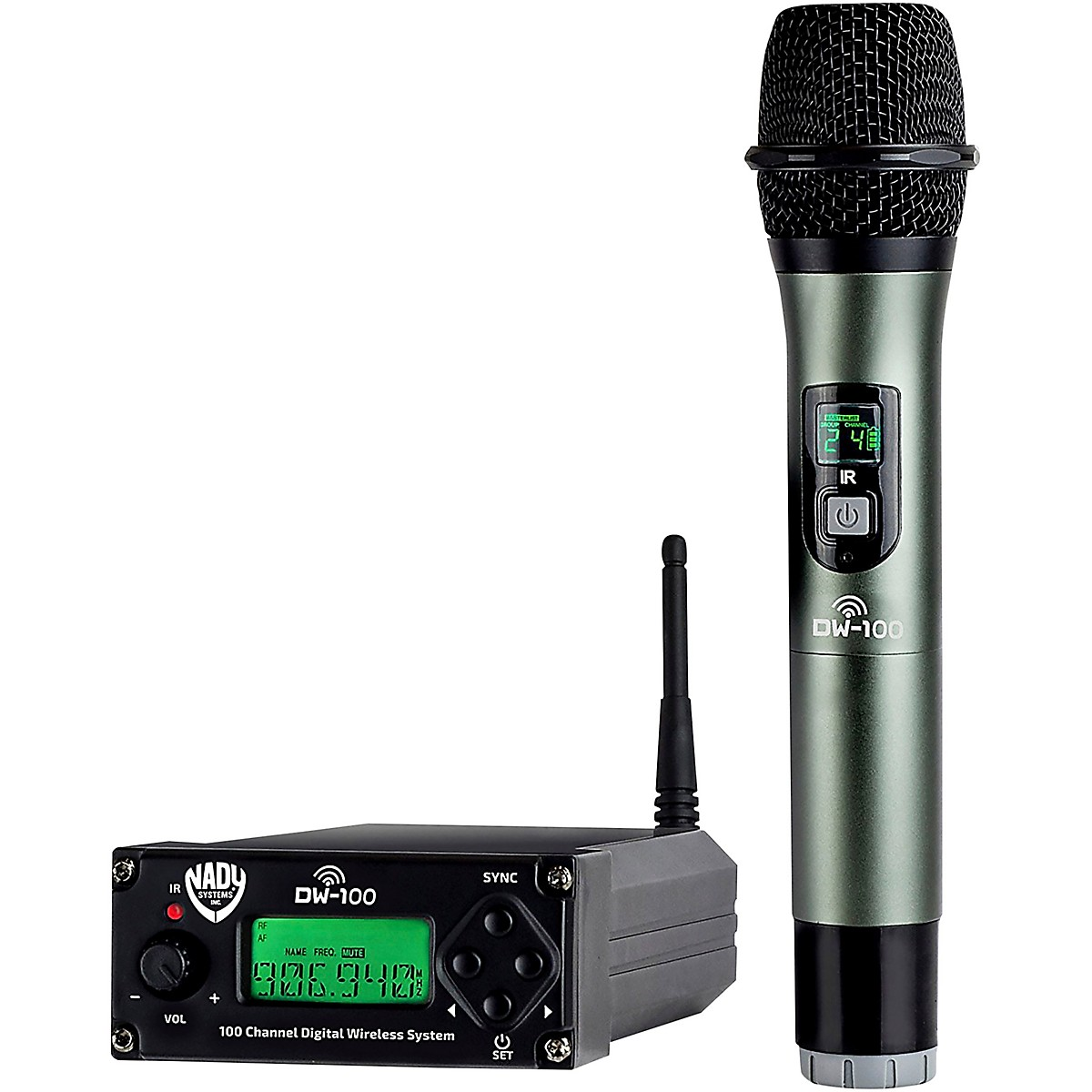 Nady DW-100 - 100-Channel Digital Handheld Wireless Microphone