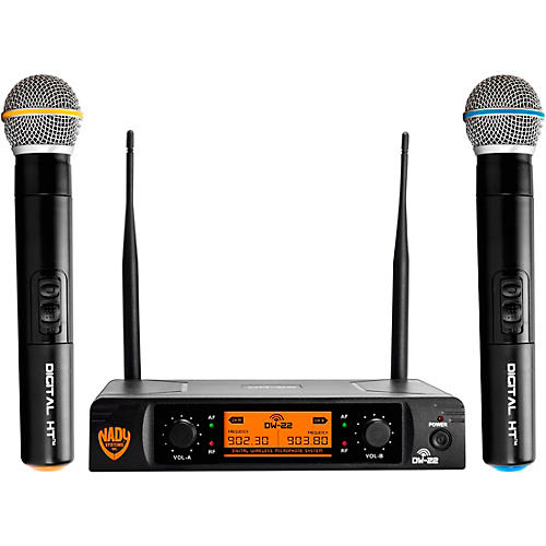 nady dw 22 ht 24 bit digital dual handheld wireless microphone system guitar center. Black Bedroom Furniture Sets. Home Design Ideas