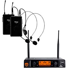 Nady DW-22 LT 24 bit Digital Dual Headmic Wireless Microphone System Level 1