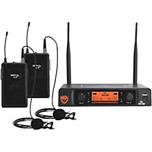 Nady DW-22 LT 24 bit Digital Dual Lapel Wireless Microphone System Level 1