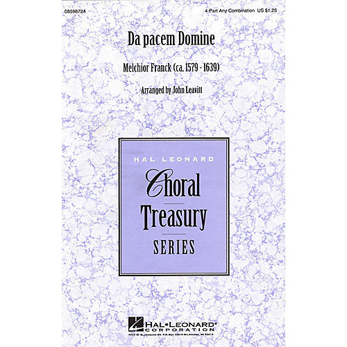 Hal Leonard Da pacem Domine 4 Part Any Combination arranged by John Leavitt