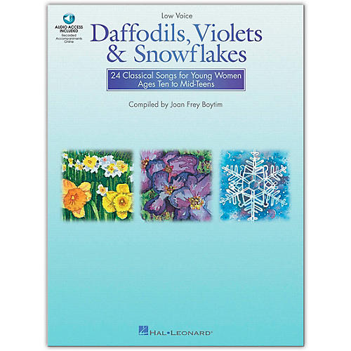 Hal Leonard Daffodils, Violets And Snowflakes for Low Voice (Book/Online Audio)