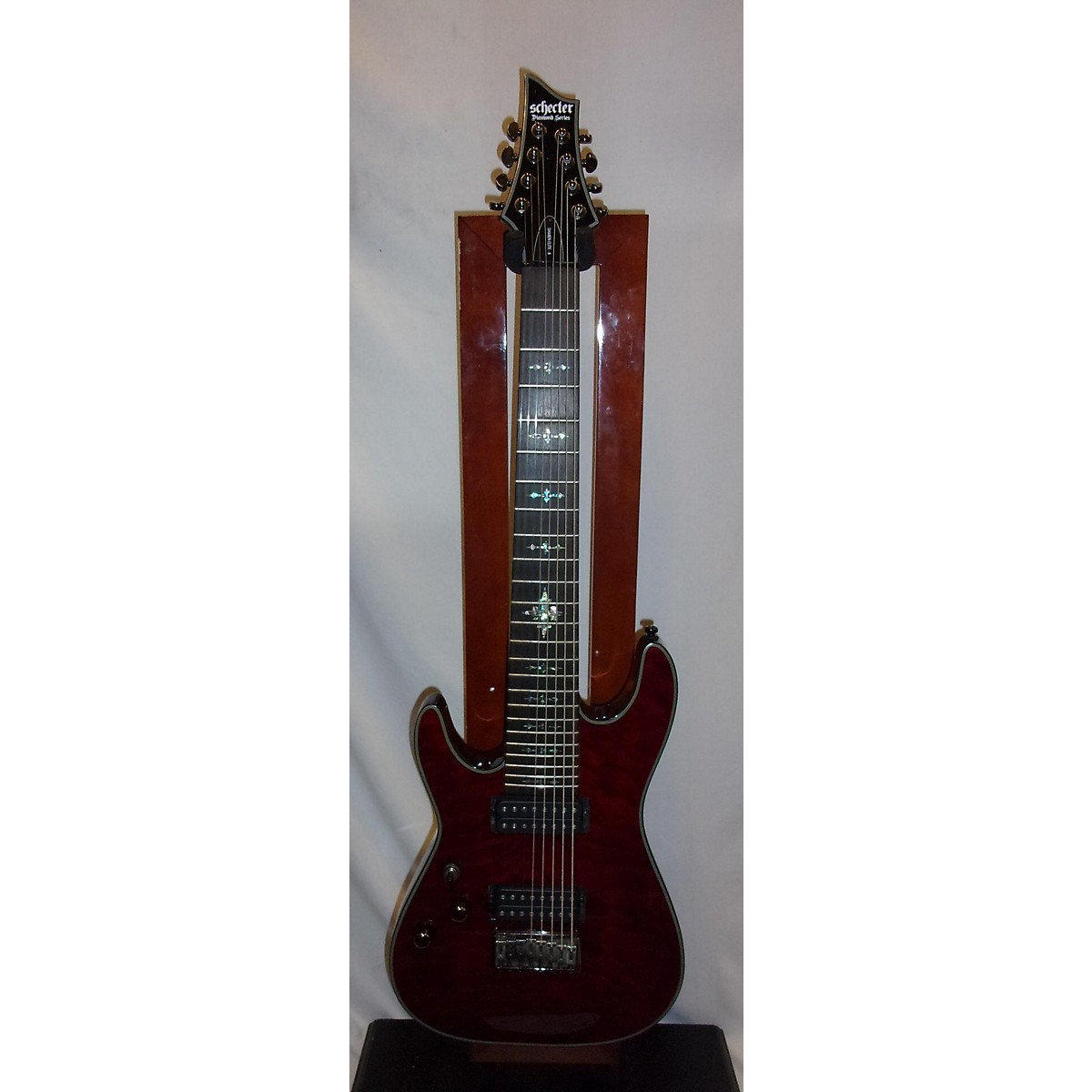 Schecter Guitar Research Damien Elite 8 String Left Handed Electric Guitar