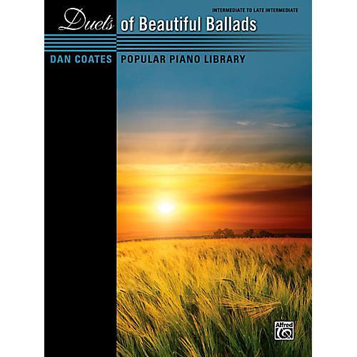Alfred Dan Coates Popular Piano Library Duets of Beautiful Ballads Book