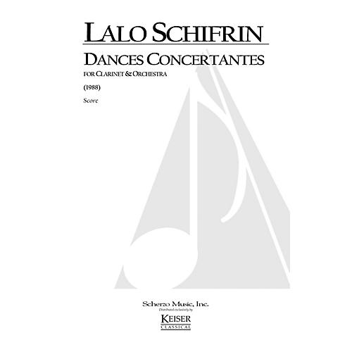 Lauren Keiser Music Publishing Dances Concertantes for Clarinet and Orchestra LKM Music Series Composed by Lalo Schifrin