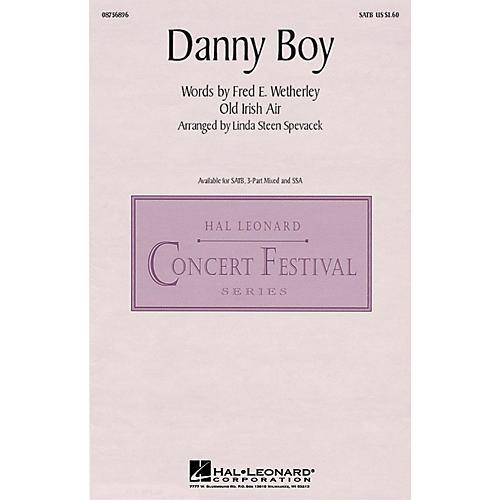 Hal Leonard Danny Boy 3-Part Mixed Arranged by Linda Spevacek
