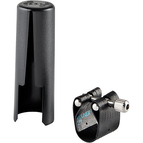 Rovner Dark 2M Tenor Saxophone Ligature and Cap for Metal Mouthpieces