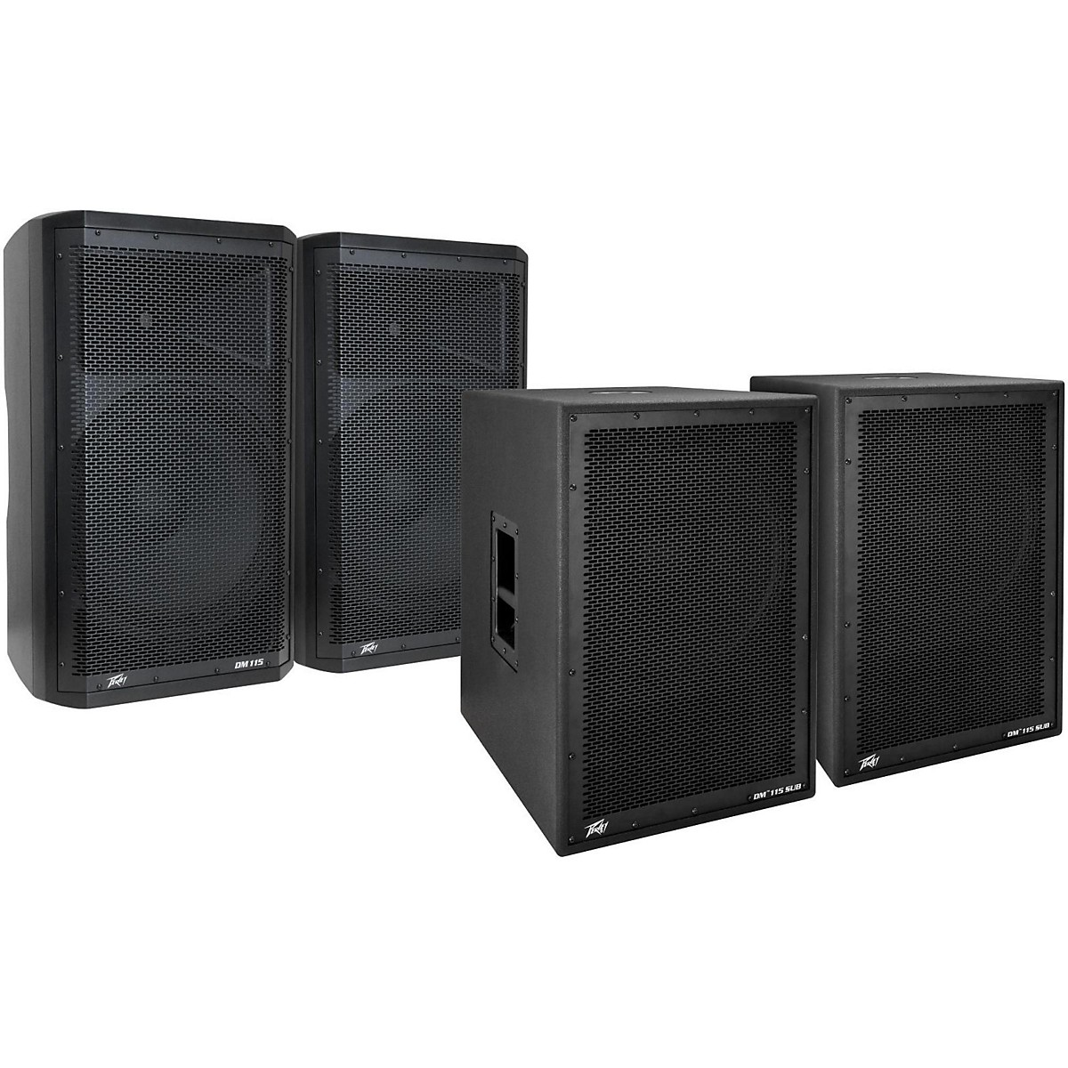 Peavey Dark Matter DM115 Powered Speaker and Sub Pair
