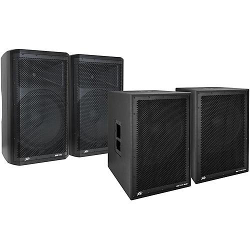 Peavey Dark Matter DM115 Powered Speaker and Sub Pair